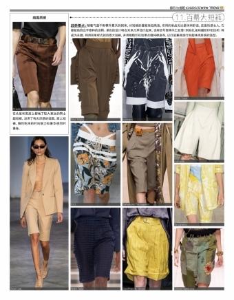 2020春夏 T台趋势 - 百慕大短裤